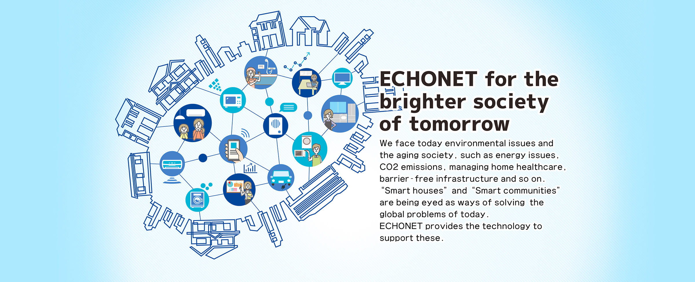ECHONET for the brighter society of tomorrow